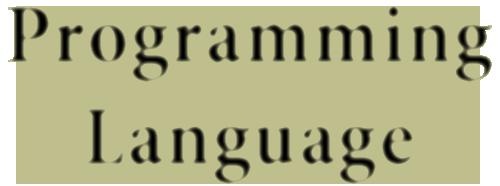 שפות תכנות