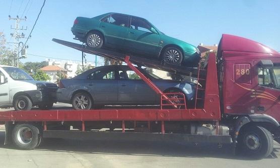 טיפול ושינוע של כלי רכב לפירוק